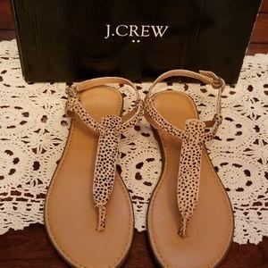 Nwt J. Crew Leapord Sandels